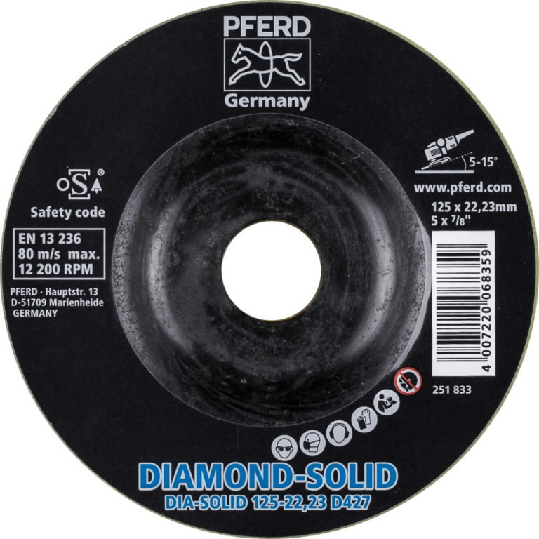 Metallilihvketas 125mm D427 CC-GRIND-SOLID DIAMOND, Pferd