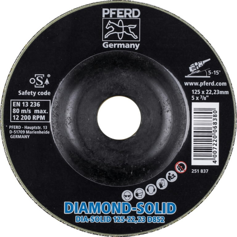Metallilihvketas 125mm D852 CC-GRIND-SOLID DIAMOND, Pferd