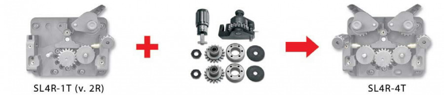 upgrade kit from 2 rolls (1r.dr.) to 4 rolls drive 1,0/1,2mm, Selco