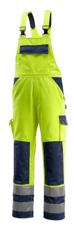 Tööpüksid traksidega Barras kõrgnähtavus kollan/sinine 90C56, Mascot