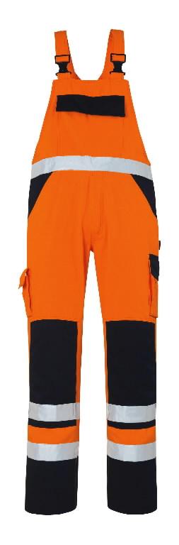 Tööpüksid traksidega Barras kõrgnähtav oranž/t.sinine 82C56, Mascot