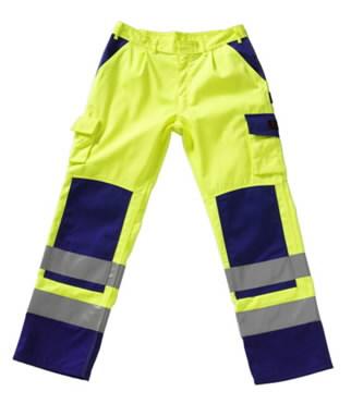 Tööpüksid Olinda kõrgnähtavus kollane/sinine 82C51, Mascot