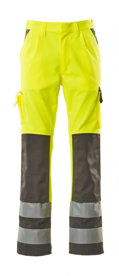 Tööpüksid Olinda kõrgnähtavus EN471 kollane/tumehall 82C52, Mascot