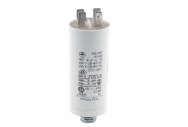 Kondensator 10uF Doppekflachst, Ratioparts