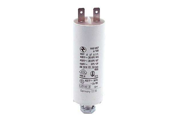 Kondensator  6uF 80mm Flachst., Ratioparts