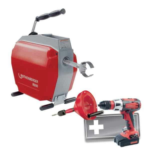 R 600 cauruļu tīrīšanas iekārta/ ROSPI®+ RO DD60, Rothenberger