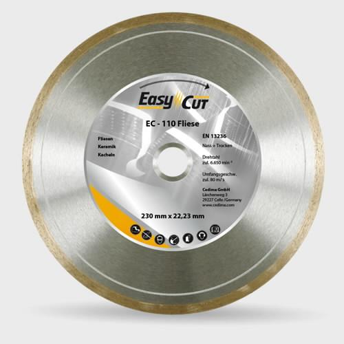 Deimantinis diskas 125x22,23 EC-110 Plytelėms flīzēm, Cedima