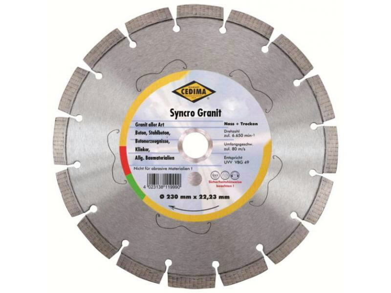 Teemantkuivlõikeketas 500 mm Syncro Granit Silent, Cedima