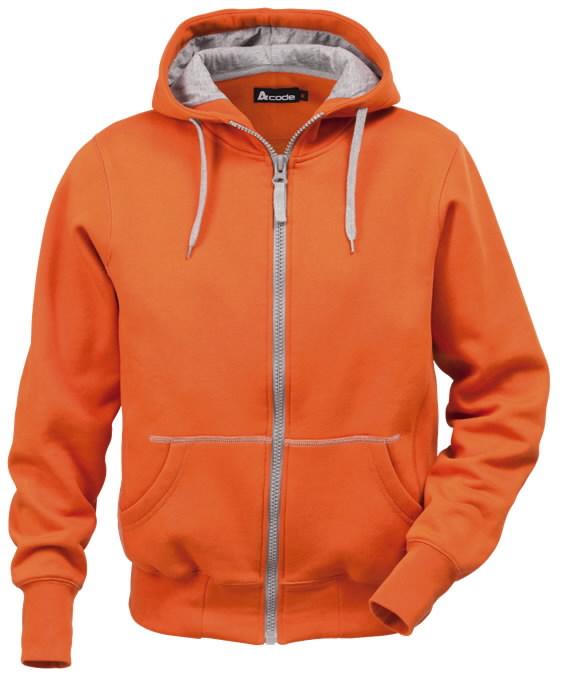 Džemperis su gobtuvu 1745 oranžinis S, Acode