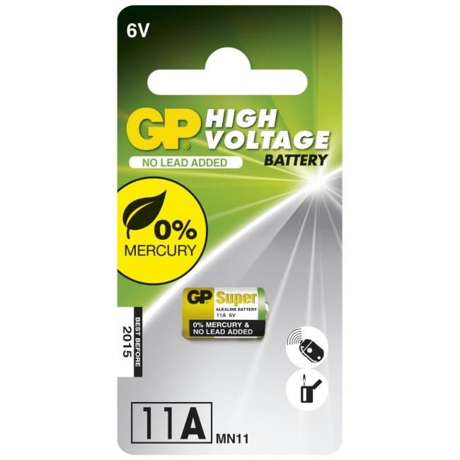 Baterija GP Nuotolinio valdymo pultas Alk, Pakuotėje 1 vnt 11A-F1, Gp
