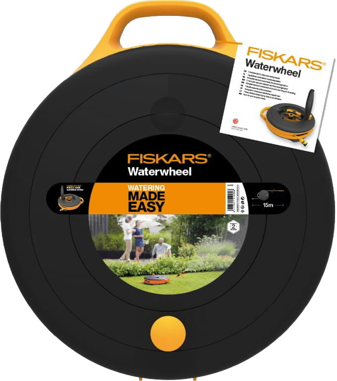 Waterweel with 15m hose, Fiskars