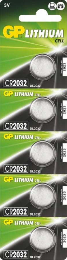 Baterija  CR2032 3V 5vnt, Gp