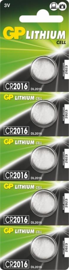 Baterija  CR2016-C5 GP 2283, Gp