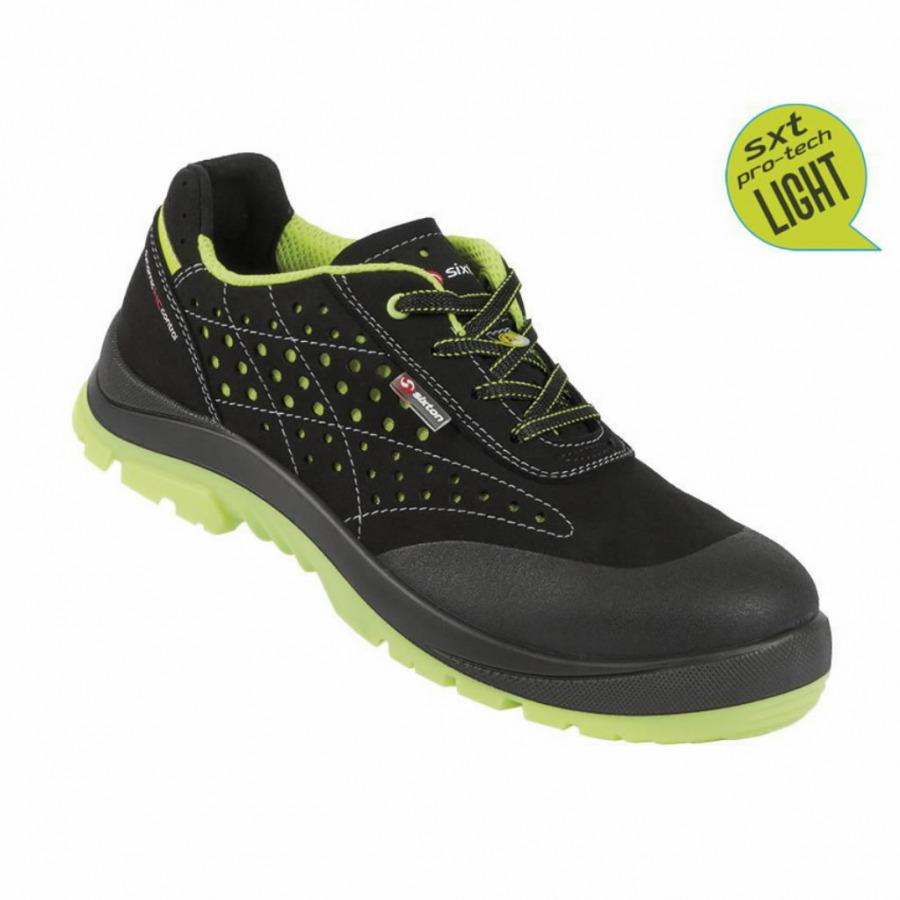 Apsauginiai batai Capua 02 Touring mot., juoda/geltona 36 S1 ESD SRC, Sixton Peak