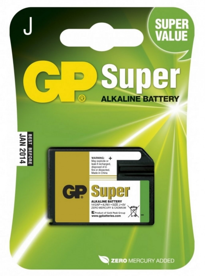Baterija 4LR61 SuperAlkaline J 6V 1412AP-U1, Gp