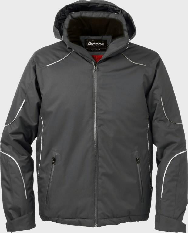 Žieminė striukė  1407 tamsiai pilka L, Acode