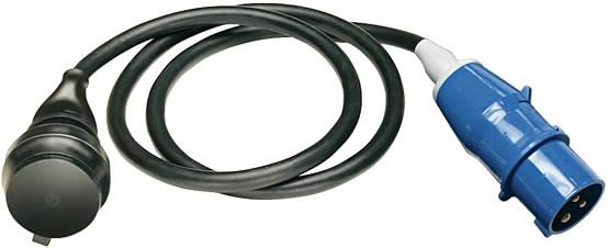 Adapteris Lead IP44 1,5m juoda H07RN-F 3G1,5 CEE   230V/16A, Brennenstuhl