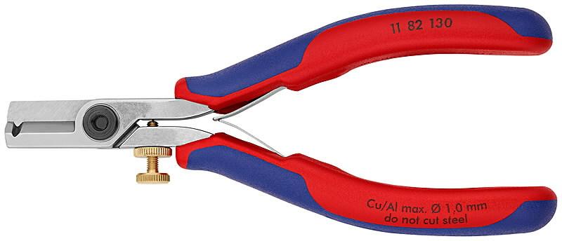 Laidų nužievinimo žirklės 130mm 0,03-1,0, Knipex