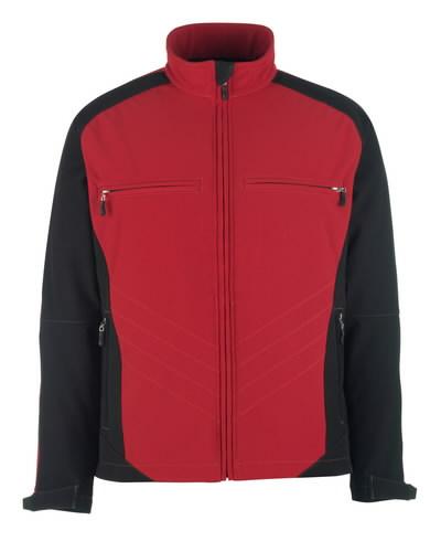 Dresden softshell elastinga striukė, raudona/juoda, 3XL, Mascot