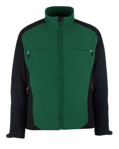 Dresden softshell elastinga striukė, žalia/juoda, 4XL, Mascot