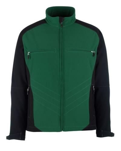 Dresden softshell elastinga striukė,žalia/ juoda, S, Mascot