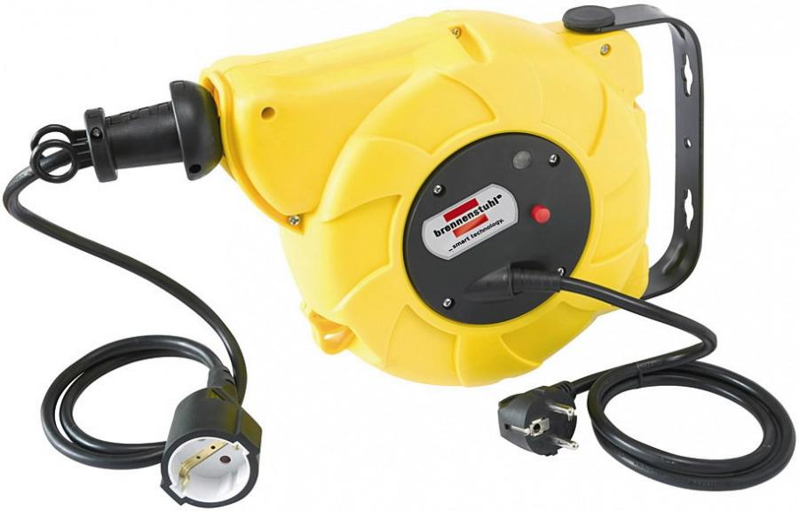 Automatinė ritė su kabeliu 9+2m, 230V, pakabinama, 3x1,5mm, Brennenstuhl