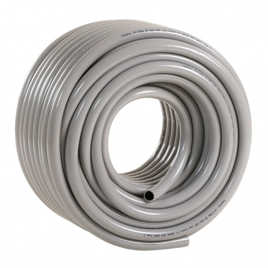 Compressed air hose 10mm 25m, Grey 10/16 ToppAIR