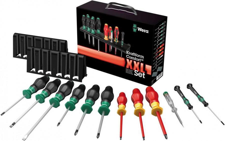 screwdriver set 12pcs Kraftform XXL Comfort, Wera