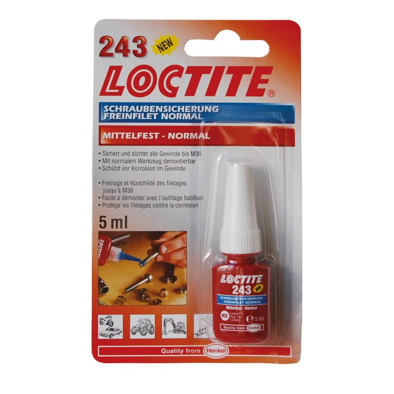 Keermeliim (keskmise tugevusega, 26Nm) LOCTITE 243 5ml, Loctite