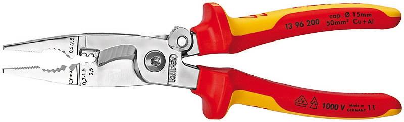 Elektriku näpitslõikurid 200mm VDE multifunktsionaalsed, Knipex