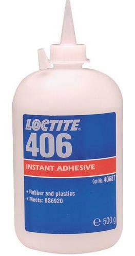 kiirliim (plastmassid, kummid) LOCTITE 406 500g, Loctite