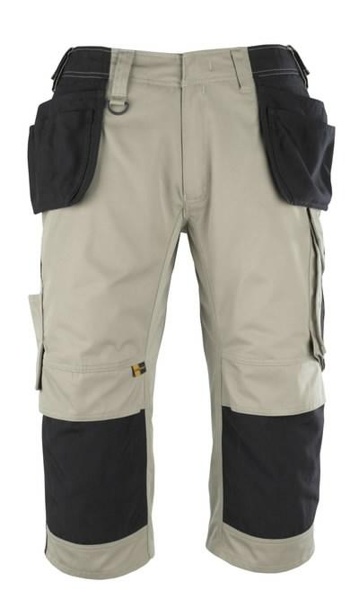 Kelnės 3/4 su  kišenėmis-dėklais 3/4 Lindau chaki C56, Mascot