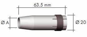 tugevalt koonuseline gaasidüüs MB24-le 10mm, Binzel
