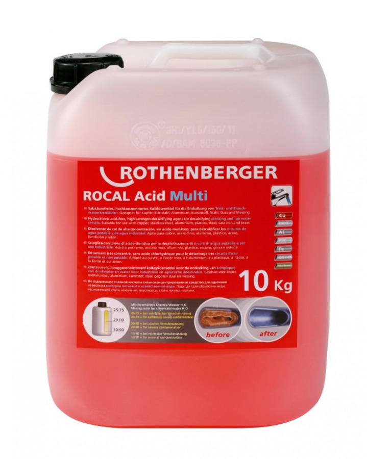 lubjakivi(katlakivi)eemaldamise kontsentraat10kg ROCAL Multi, Rothenberger