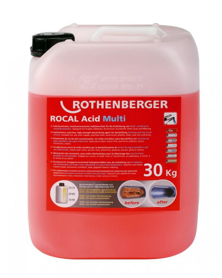 lubjakivi(katlakivi)eemaldamise kontsentraat30kg ROCAL Multi, Rothenberger