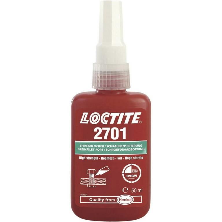 Sriegių fiksavimo klijai  (stiprūs, 38Nm) LOCTITE 2701  50ml, Loctite