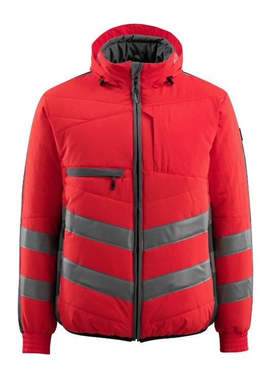 Hi. vis winterjacket Dartford, red/grey S, Mascot