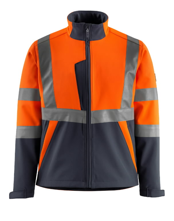 Striukė softshell Kiama oranžinė/t.mėlyna XL, Mascot
