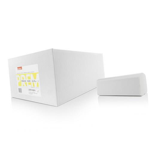 Paberrätik lehtedes  Premium, tselluloos 2-kihiline, Satino