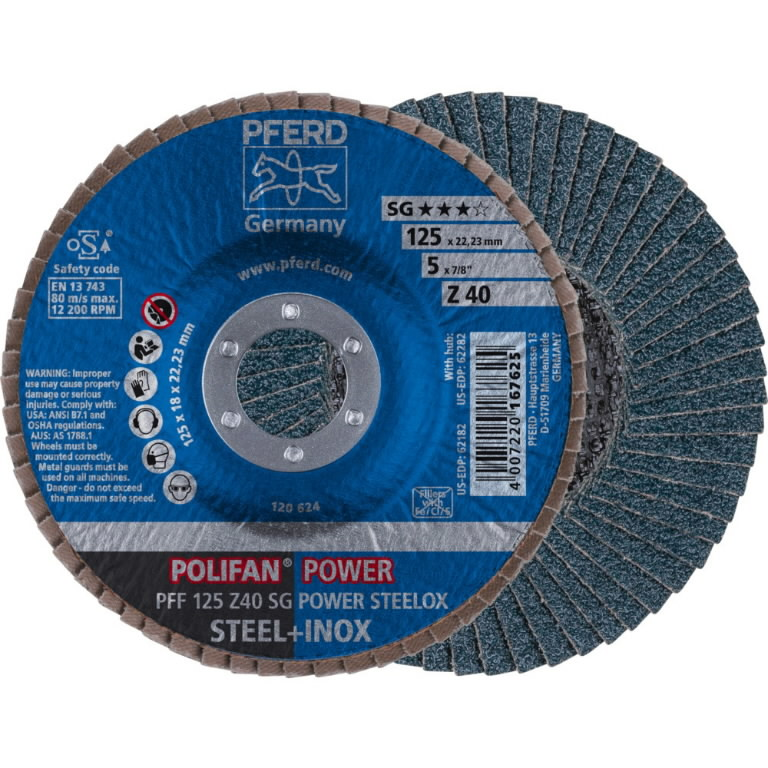 Vėduoklinis diskas 125mm Z40 SG-ZIRKON PFF, Pferd