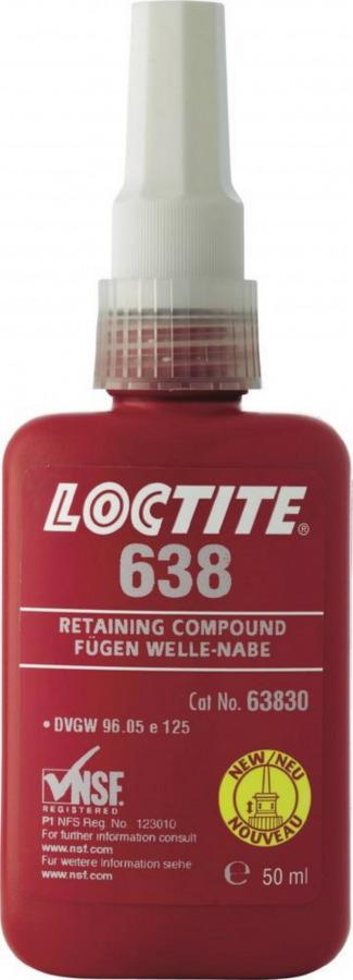 Puksi- ja laagriliim lõtkudele kuni 0,25mm LOCTITE 638 50ml, Loctite
