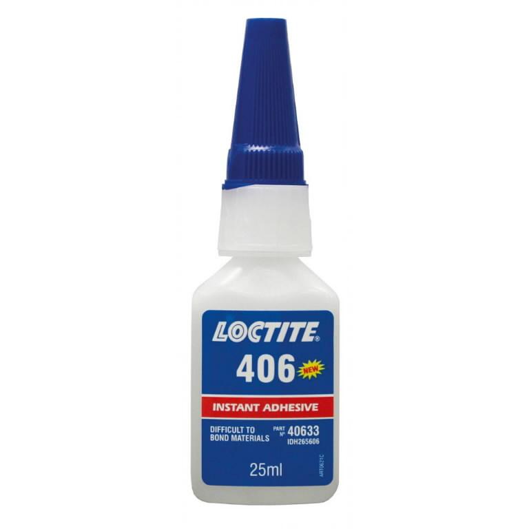 kiirliim (plastmassid, kummid) LOCTITE 406 50g, Loctite
