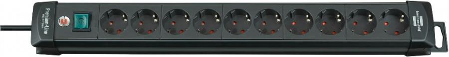 pikendusjuhe 3m, Premium-Line, 10 pesa, H05VV-F 3G1,5, must, Brennenstuhl