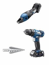 Slitting shear TruTool C160 +cordless drill Trutool DD 1010, Trumpf