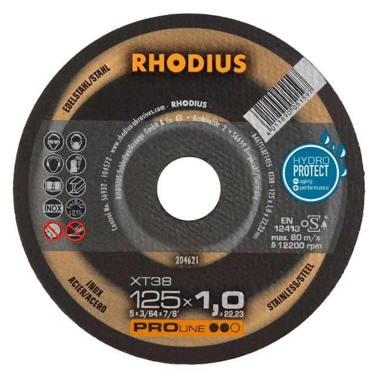 Pjovimo diskas nerūdijančiam plienui XT38 150x1.5, Rhodius