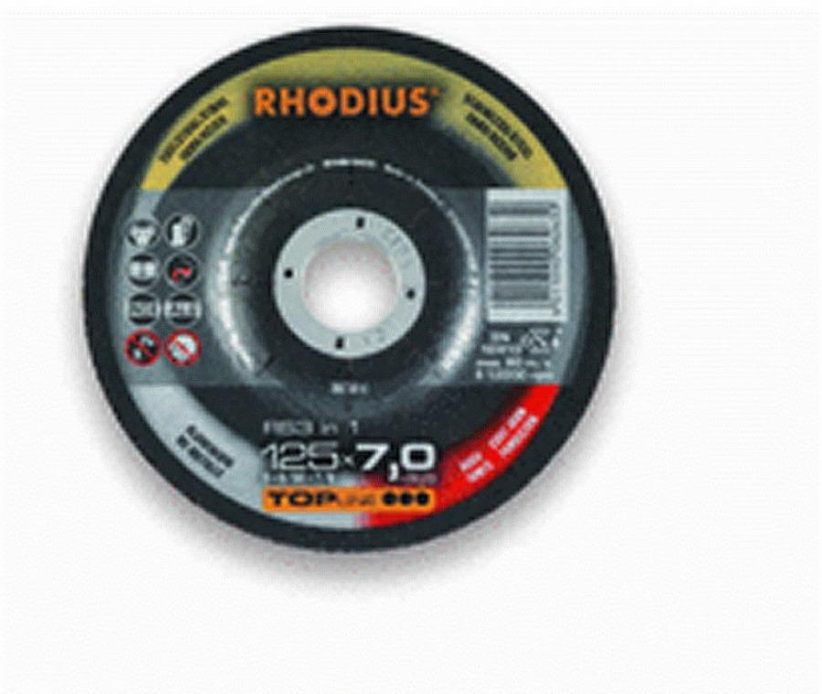 Šlifavimo diskas RS3 in 1 125x7 INOX, Alu, Steel, Rhodius