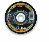 Pjovimo diskas FT26 125x2 nerūdijančiam plienui, Rhodius
