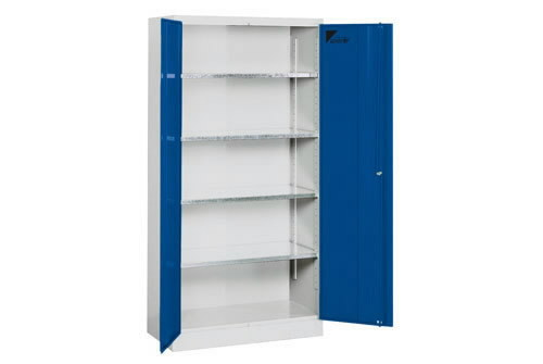 locker with hinged doors 4 shelves 1900x950x500mm 52200, Metec