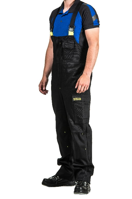 Bib-trousers for welders Stokker Special  black/yellow 2XL, Dimex