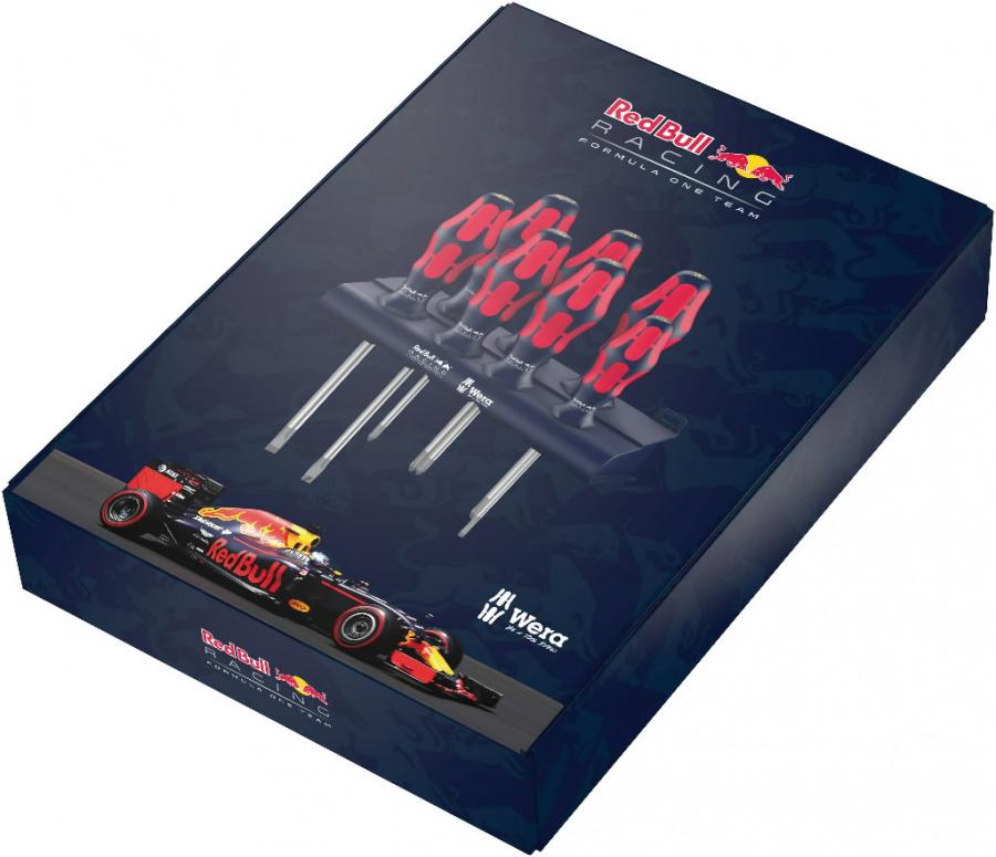 Skrūvgriežu komplekts Red Bull 7pc SlipStop, Wera